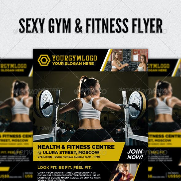 Sexy Fitness Gym & Sports Workout Flyer