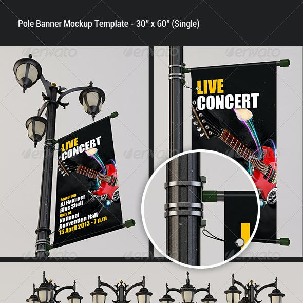 Pole Banner Mock-Up