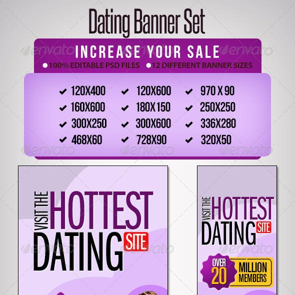 Dating Banner Set - 12 Sizes