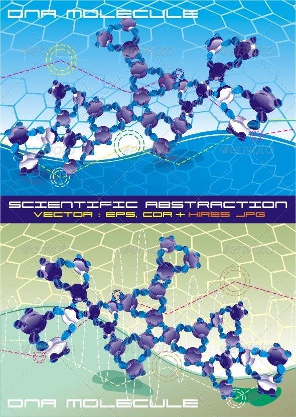 Complex  DNA Molecule At An Abstract Background. - Health/Medicine Conceptual