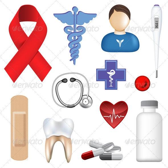 Medical Objects - Health/Medicine Conceptual