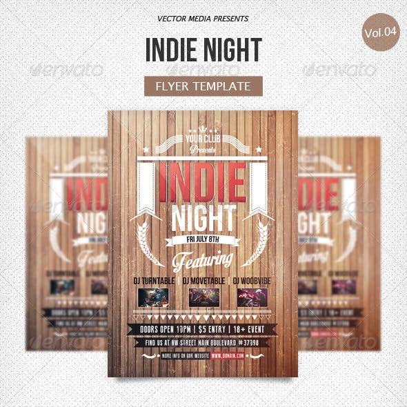Indie Night - Flyer [Vol.4]
