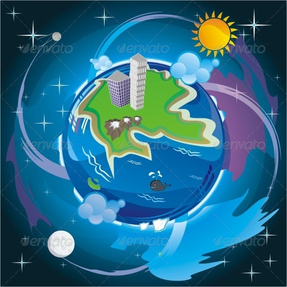 The Dream Of A Clean Planet Earth . - Conceptual Vectors