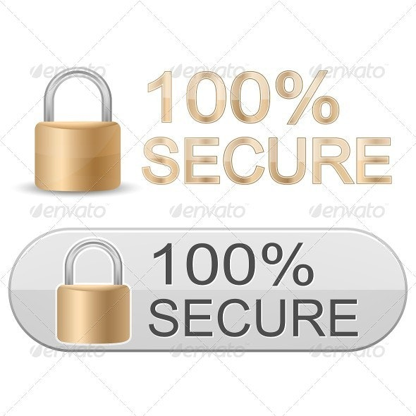 Secure Icons. SSL Certificates Sign for Website - Concepts Business