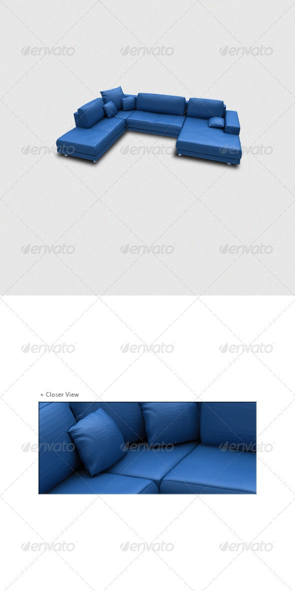3D Sofa Render - Objects 3D Renders
