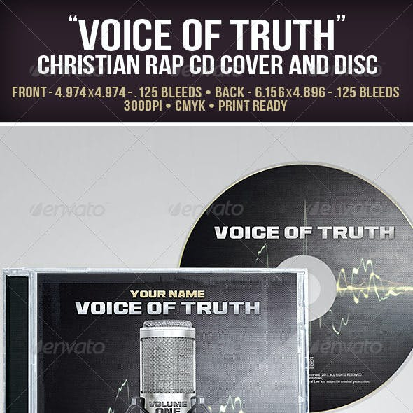 """""""Voice of Truth"""" Christian Rap CD Cover and Disc"""