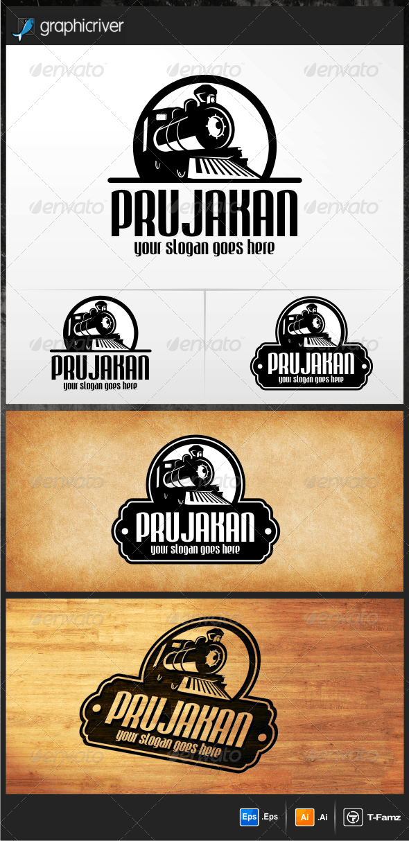 Old Train Logo - Objects Logo Templates