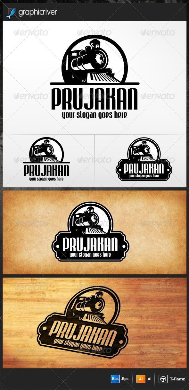 Old Train Logo - Objects Logo Templates