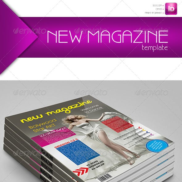 New Magazine 50 Pages Template