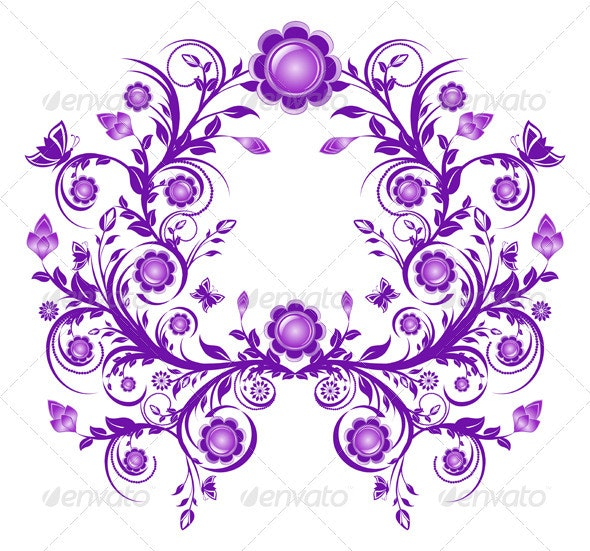 Vector Illustration of a Floral Ornament - Borders Decorative