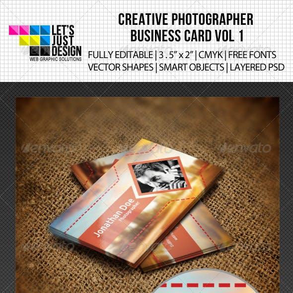 Creative Photographer Business Card Vol 1