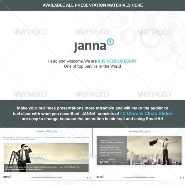 Janna - Clear & Clean Powerpoint Template