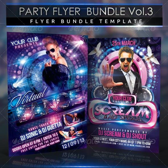 Party Flyer Scream Bundle 2 in 1