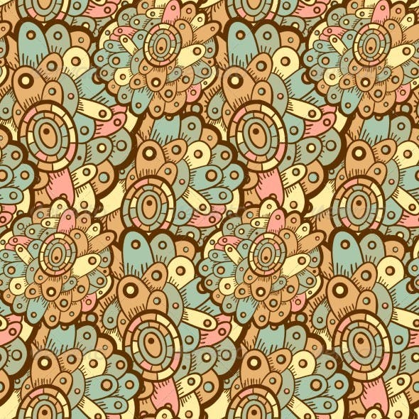 Ethnic Seamless Pattern. Indian