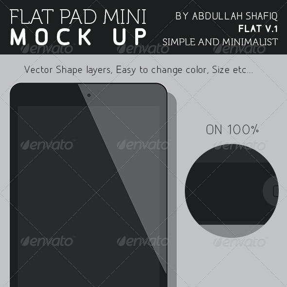Flat IPad Mini Mockup