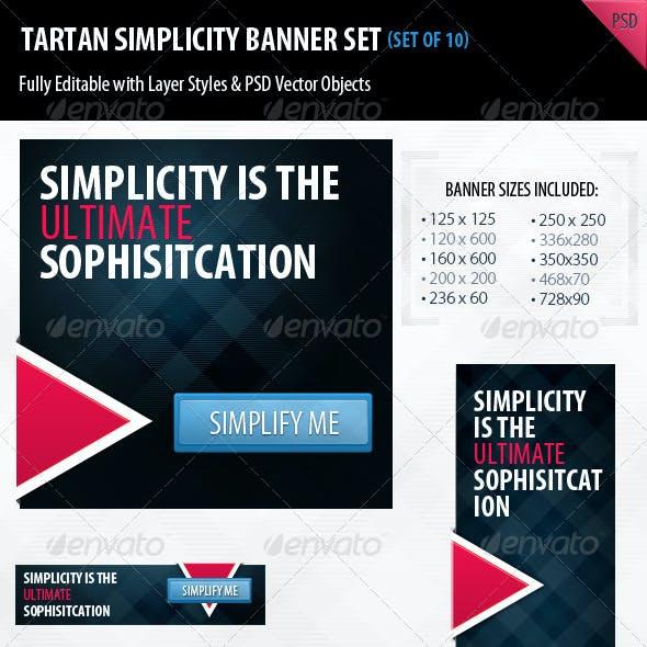 Tartan Simplicity Banner Set