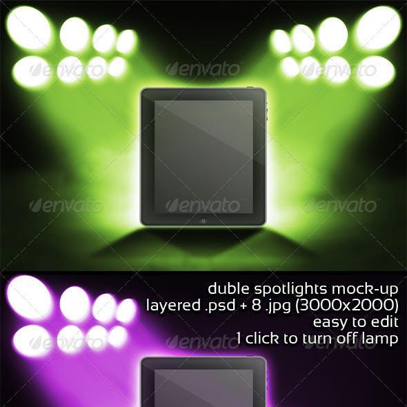 Duble Spotlights Mock-up
