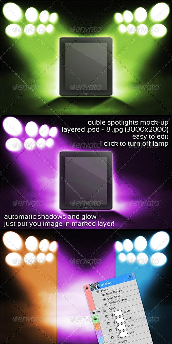 Duble Spotlights Mock-up - Miscellaneous Displays