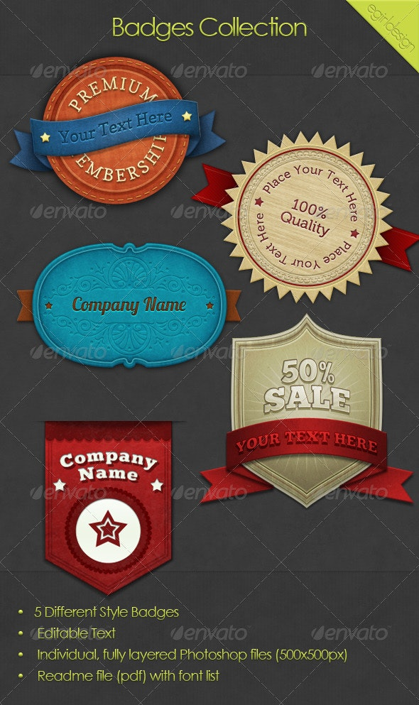 Badges Collection - Badges & Stickers Web Elements