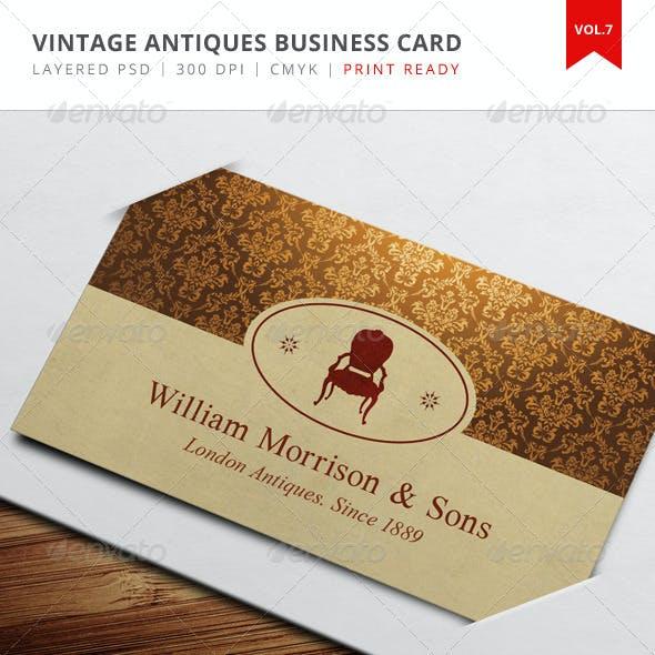 Vintage Antiques Business Card - Vol.7
