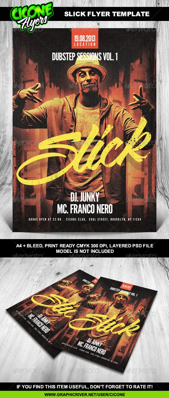 Slick Flyer Template - Clubs & Parties Events