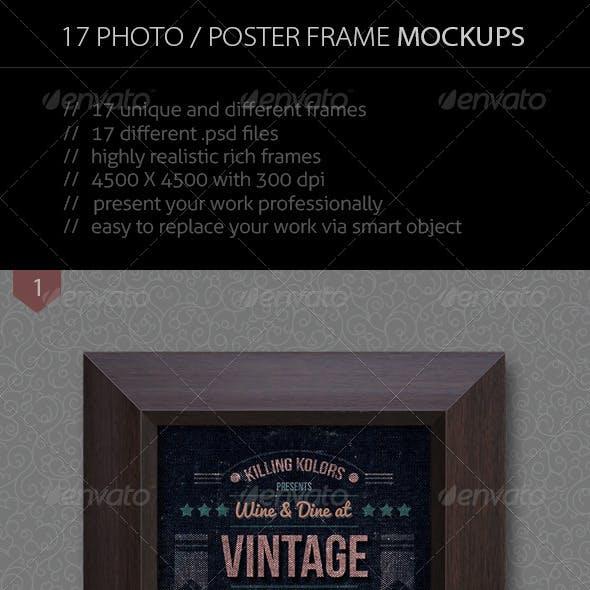 17 Photo / Poster Frame Mockup