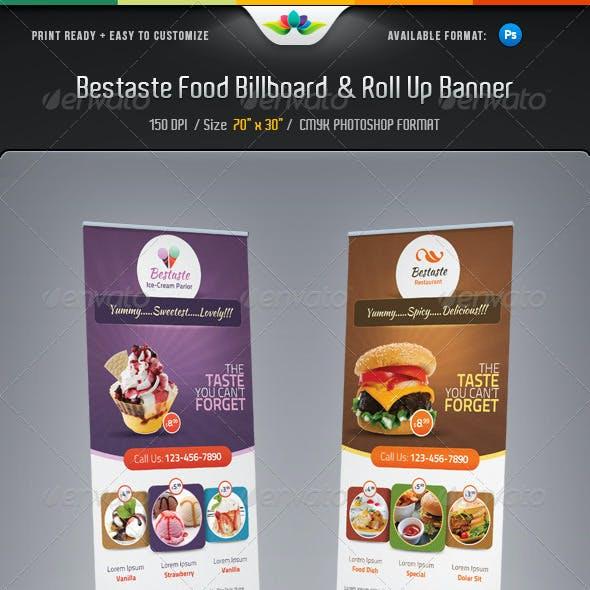Bestaste Food Billboard & Roll Up Banner