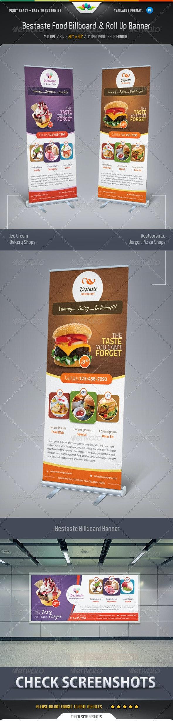 Bestaste Food Billboard & Roll Up Banner - Signage Print Templates