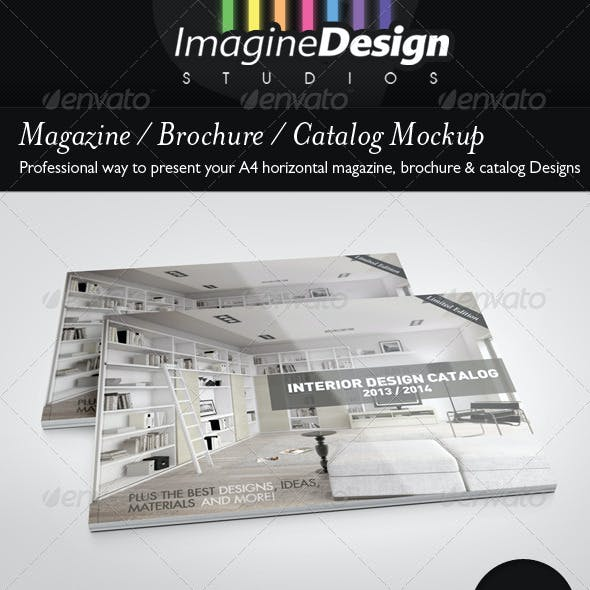 Magazine / Brochure / Catalog Mock-Up
