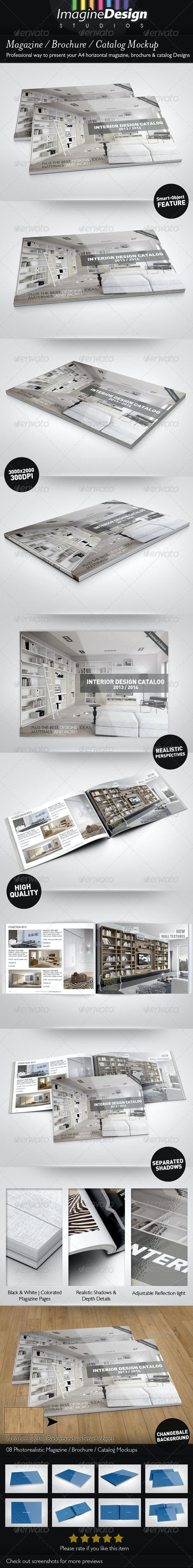 Magazine / Brochure / Catalog Mock-Up - Print Product Mock-Ups