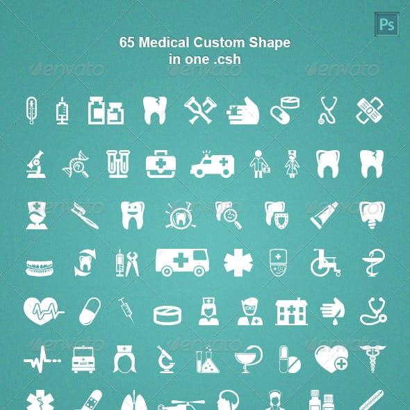 65 Medical Custom Shape