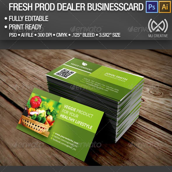 Fresh Product Dealer Business Card