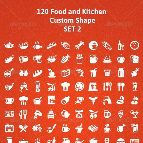 120 Food and Kitchen Custom Shape (Set 2)