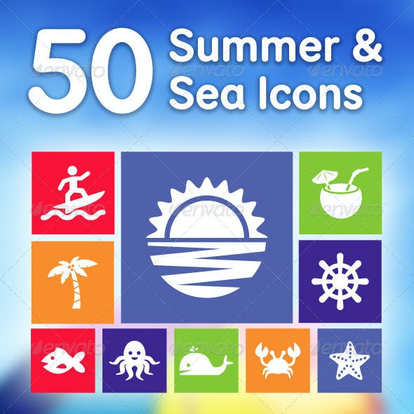 50 Summer & Sea Icons