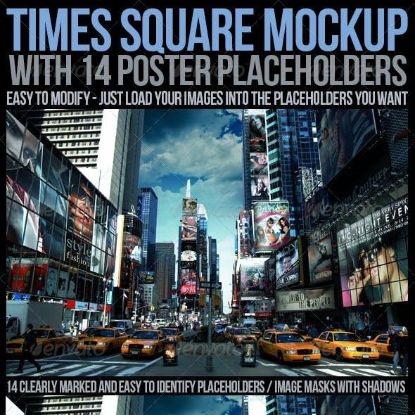 Times Square Mockup