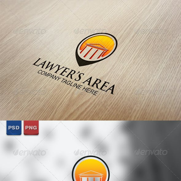 Lawyer's Area Logo Template