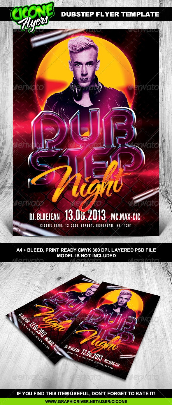 DubStep Flyer Template - Events Flyers