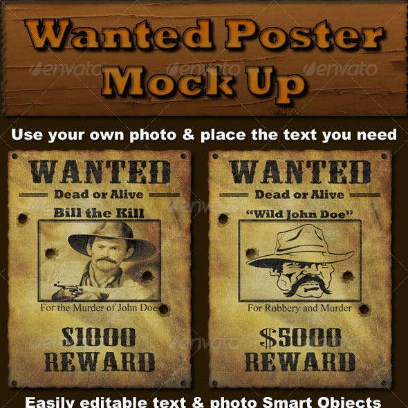 Wanted Poster Mock Up