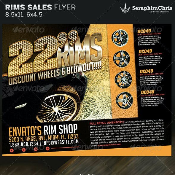 Rims Sales Flyer Template
