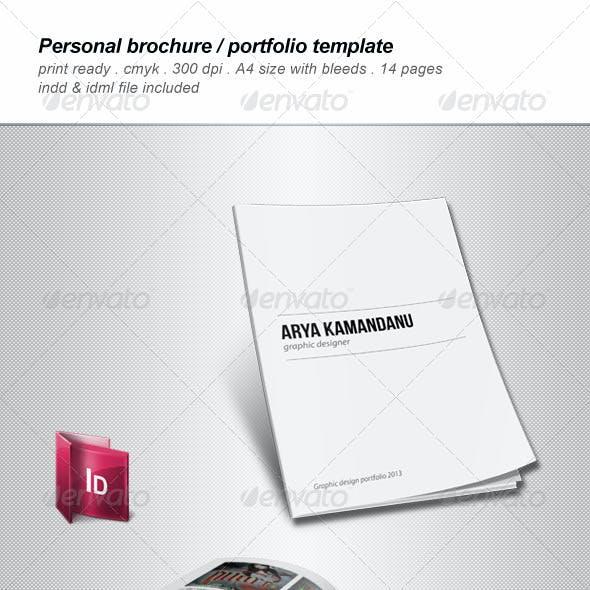 Personal Brochure / Portfolio Template