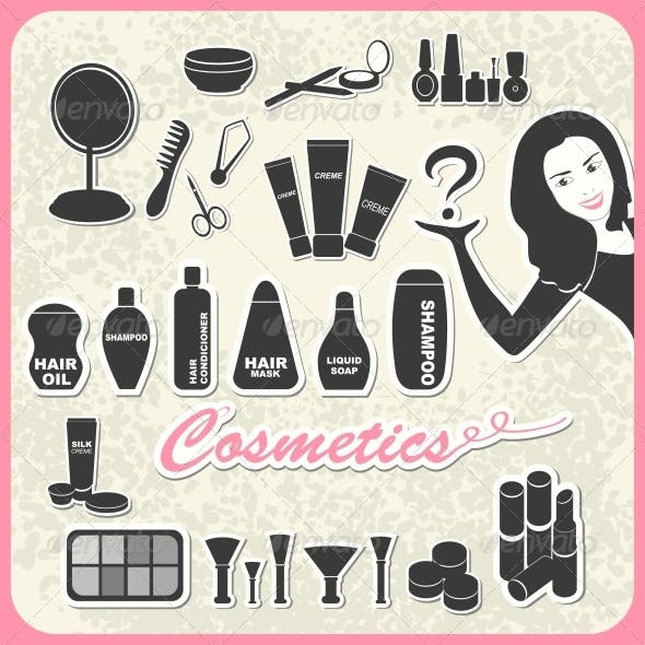 Download Set of Cosmetics
