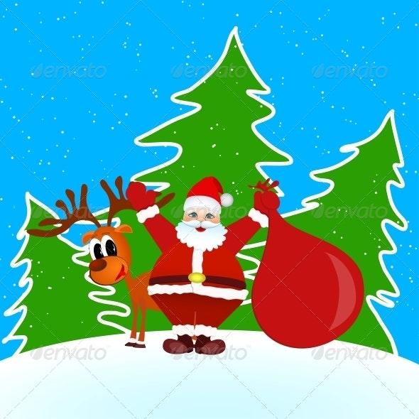 Santa Claus Merry Christmas