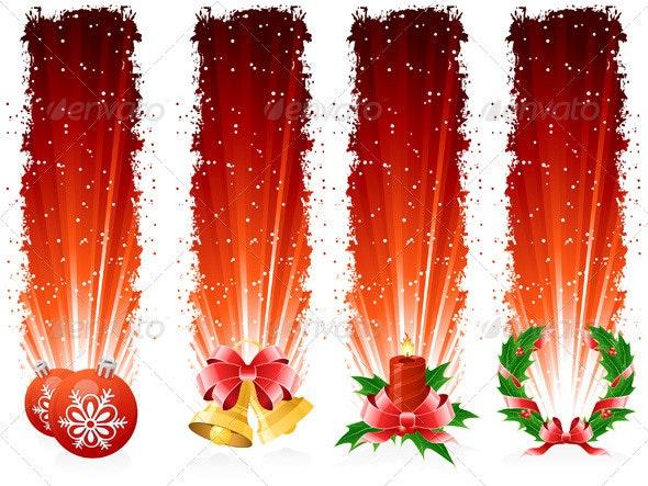 Grunge Christmas Banner - Christmas Seasons/Holidays