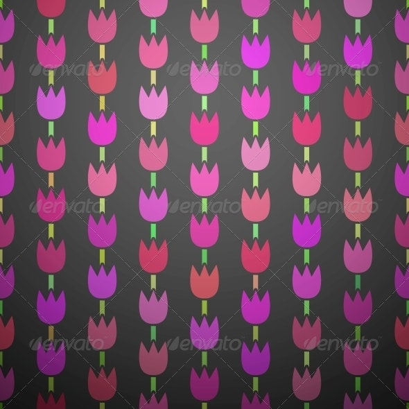 Geometric Pink Tulip Background