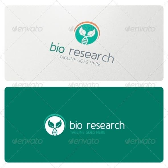 Bio Research Logo Template