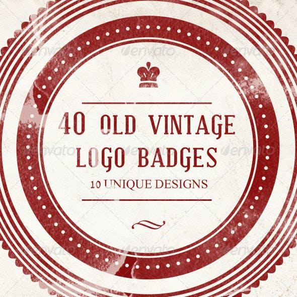 40 Old Vintage Logo Badges