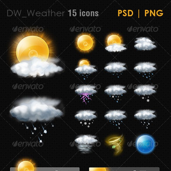 15 Realistic Weather ICON
