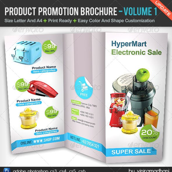 Product Promotion TriFold Brochure   Volume 1