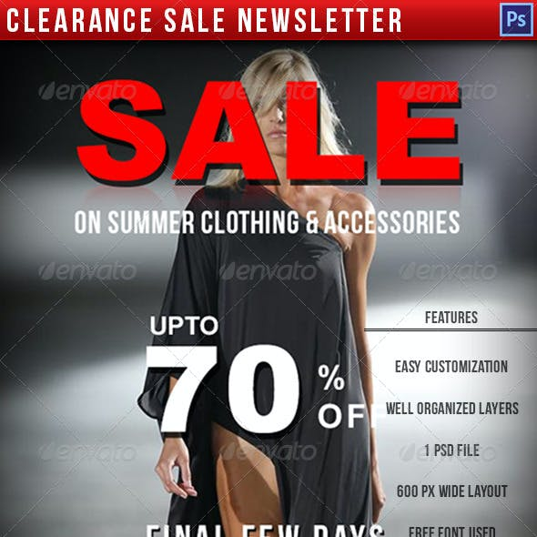 Clearance Sale Newsletter E-commerce Template
