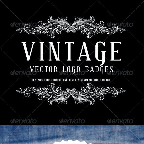 Vintage Logo Badges Vol 2